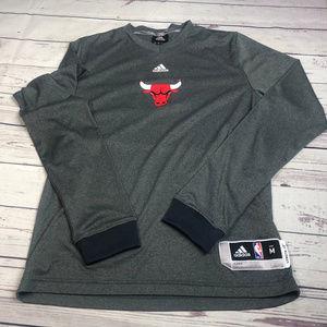 Men's long sleeve Adidas Chicago Bulls tee shirt